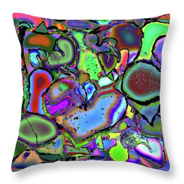 Eclectic Love Overflows Throw Pillow