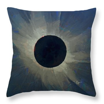 Throw Pillow featuring the digital art Eclipse 2017 by Charlie Roman