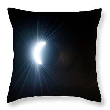 Eclipse Before Totality Throw Pillow