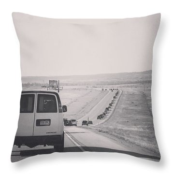 Eclipse Bound Throw Pillow