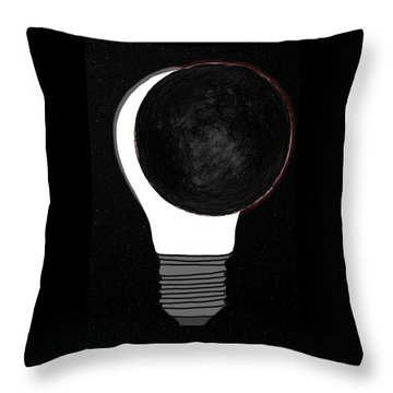 Throw Pillow featuring the drawing Eclipse by John Haldane