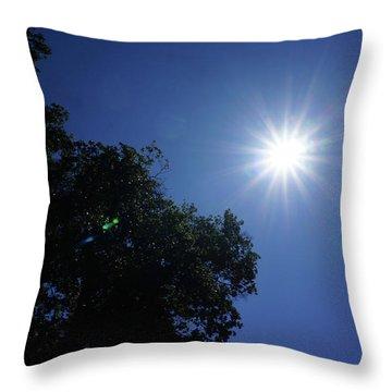 Eclipse Light Prism Throw Pillow