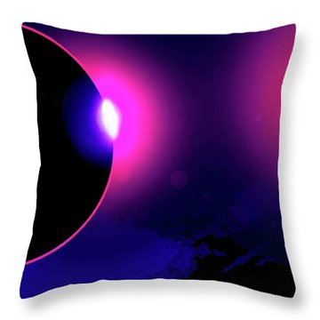 Eclipse Of 2017 Throw Pillow