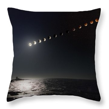 Eclipse Of The Moon Throw Pillow