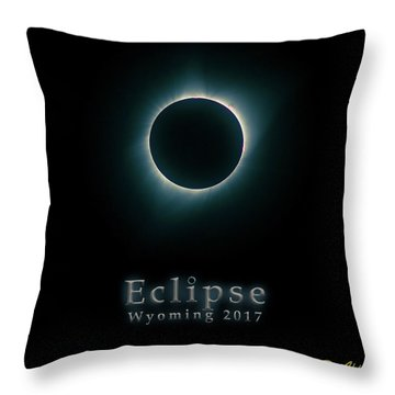 Throw Pillow featuring the photograph Eclipse Wyoming by Rikk Flohr