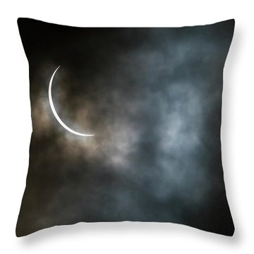 Eclipsed Crescent IIi Throw Pillow