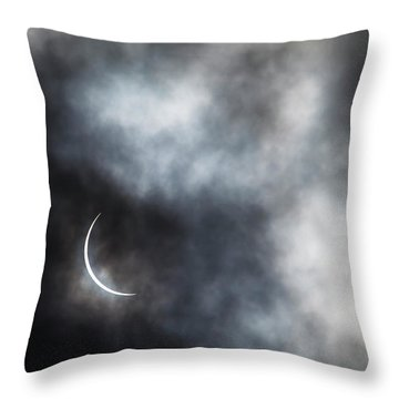 Eclipsed Crescent II Throw Pillow