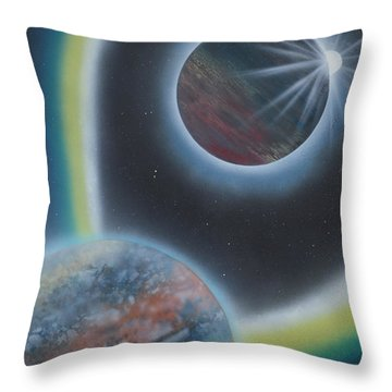 Eclipsing Throw Pillow