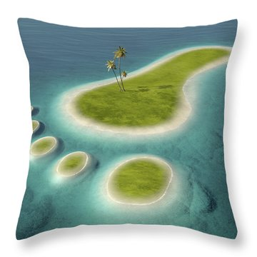 Eco Footprint Shaped Island Throw Pillow