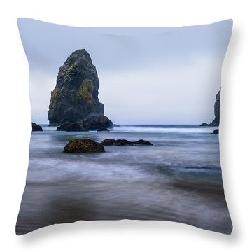 Ecola Beach Throw Pillow