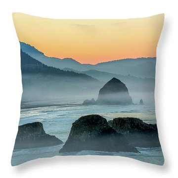 Ecola State Park  Throw Pillow
