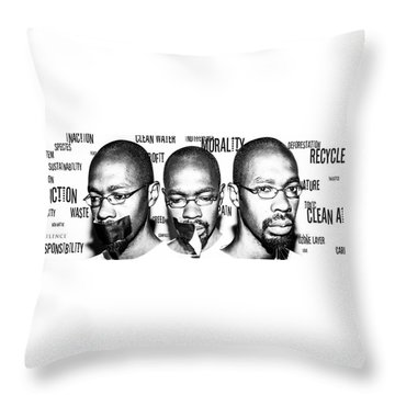 Throw Pillow featuring the photograph Ecological Identity by Eric Christopher Jackson