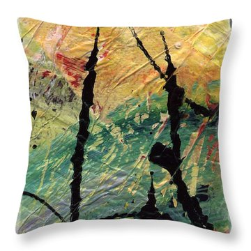 Throw Pillow featuring the painting Ecstasy II by Angela L Walker