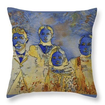 Throw Pillow featuring the painting Ectoplasma 2 by Cynthia Powell