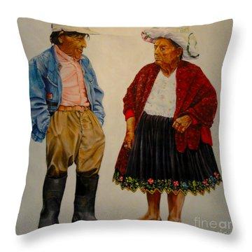 Ecuadorian Gothic Throw Pillow by Al Bourassa