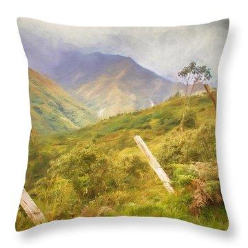 Ecuadorian Mountain Forest Throw Pillow