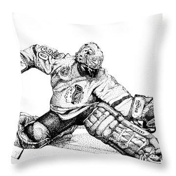 Ed Belfour Throw Pillow by Steve Benton