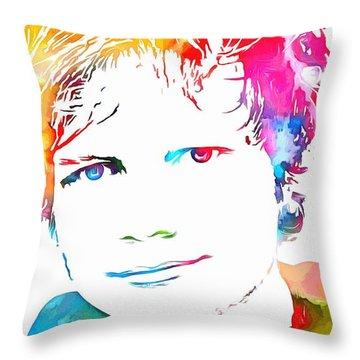 Ed Sheeran Paint Splatter Throw Pillow by Dan Sproul