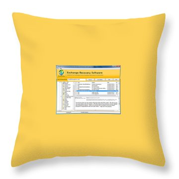 Edb To Ps T Software  Throw Pillow