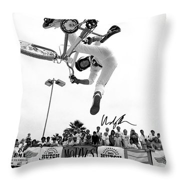 Eddie Fiola Freestylin' Cover 1986 Throw Pillow