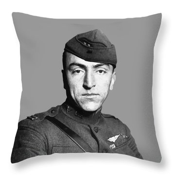 Eddie Rickenbacker Throw Pillow by War Is Hell Store