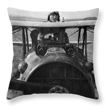 Eddie Rickenbacker - World War One - 1918 Throw Pillow
