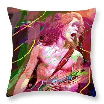 Eddie Van Halen Jump Throw Pillow