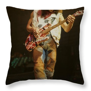 Eddie Van Halen Throw Pillow by Rich Fuscia