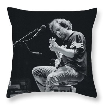 Eddie Vedder Playing Live Throw Pillow