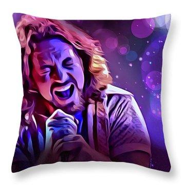 Eddie Vedder Portrait Throw Pillow by Scott Wallace