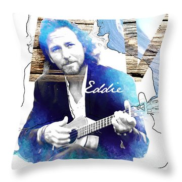 Eddie Throw Pillow by Wagner Povoa