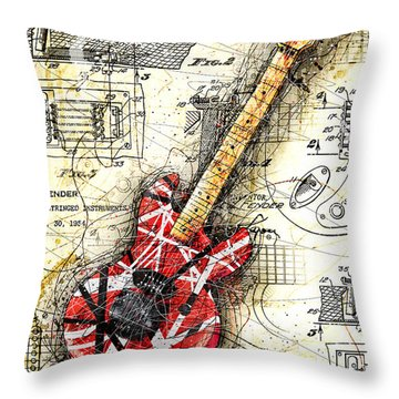 Eddie's Guitar II Throw Pillow by Gary Bodnar
