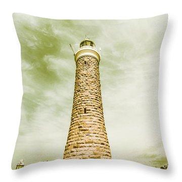 Eddystone Point Lighthouse Throw Pillow
