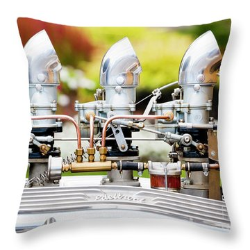 Throw Pillow featuring the photograph Edelbrock Side View by Chris Dutton
