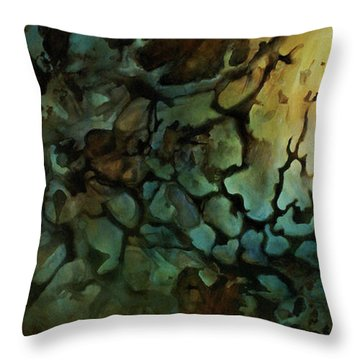 Edens Gate Throw Pillow by Michael Lang