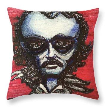 Edgar Alien Poe Throw Pillow