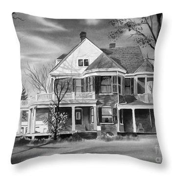 Edgar Home Bw Throw Pillow by Kip DeVore