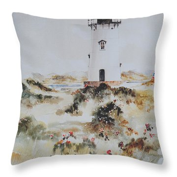 Edgartown Light Marthas Vineyard Throw Pillow