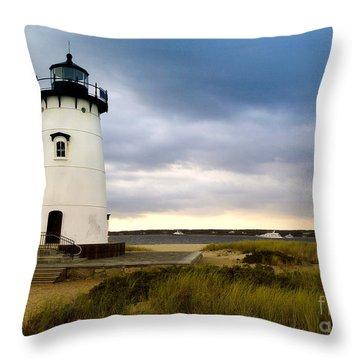Edgartown Lighthouse Cape Cod Throw Pillow by Matt Suess