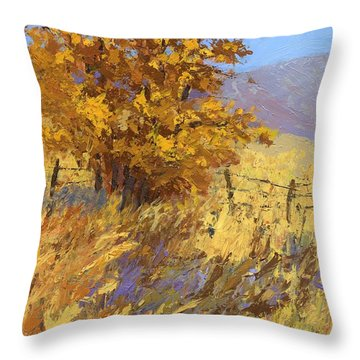 Edge Of Autumn Throw Pillow