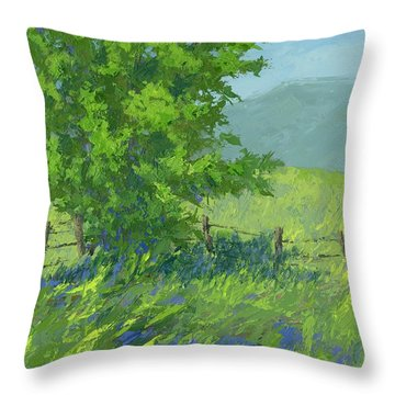 Edge Of Spring Throw Pillow