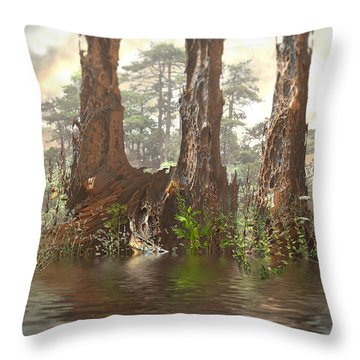 Edge Of The Old Forest Throw Pillow
