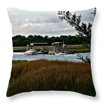 Edge Of The Park Throw Pillow