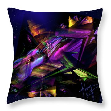 Throw Pillow featuring the painting Edge Of The Universe by DC Langer