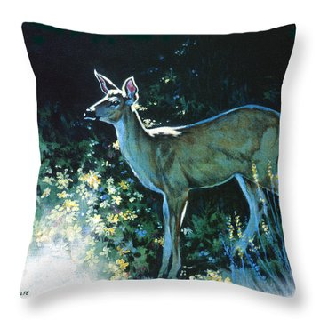 Edge Of The Wood Throw Pillow by Richard De Wolfe