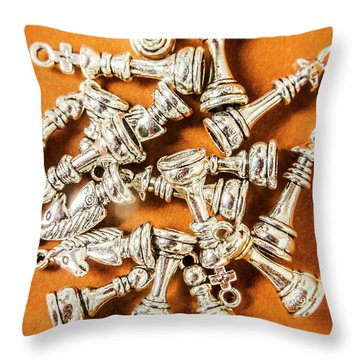 Edge Of Victory Throw Pillow