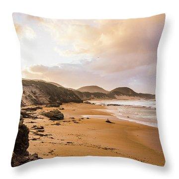 Edge Of Western Shores Throw Pillow