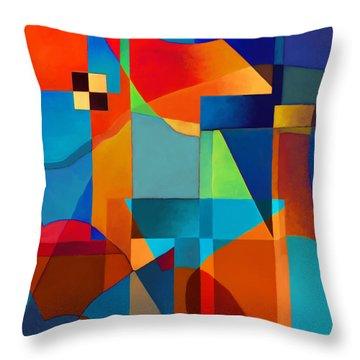 Edges Throw Pillow by Elena Nosyreva