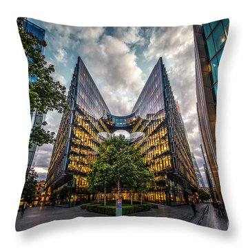 Edges Throw Pillow
