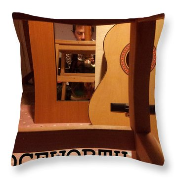 Edgeworth Acoustic Guitar Throw Pillow